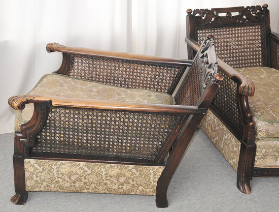 Two Bergtere chairsside front