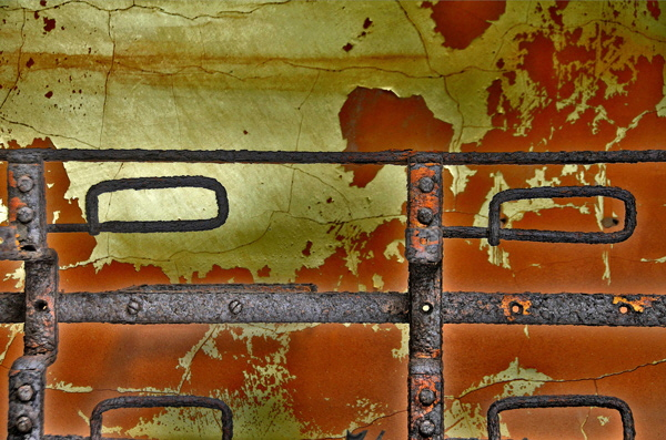Corroded Iron on Redand Yellow