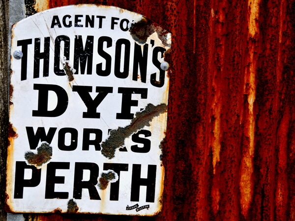 Dye Works Sign