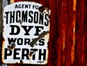 Thomsons Dye Works Sign T